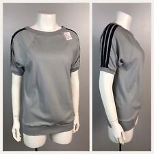 Vintage NOS 1980s Gray with Black Stripe Threadbare Ringer T Shirt S/S Unworn XS