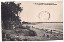 saint-brévin-les-pins ,vue générale de la plage vers le pointeau