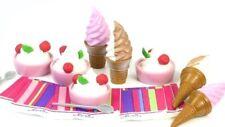 4 EA Yogurt Berry Bowls+ Ice Cream Cones Doll Food 18 in American Girl Dolls