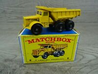 Matchbox Lesney Vintage 1960's No 6b Euclid Quarry Truck Diecast Toy Car Boxed