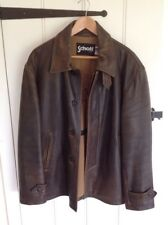 Schott Leather Jacket Size Large Brown Heavy And Supple Excellent Condition