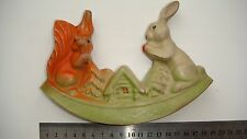 """1960's Vintage Russian USSR RUBBER Toy DOLL  """"FOX&BUNNY"""""""