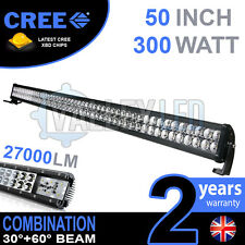50 in (environ 127.00 cm) 300 W CREE DEL LIGHT BAR Defender nevara JEEP L200 HILUX Discovery DMAX