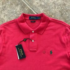 Polo Ralph Lauren Mesh Shirt Mens L Red w/ Green Pony Classic Fit NWT $89