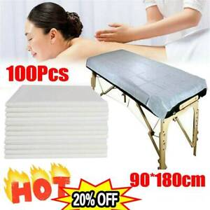 100pcs Disposable Plastic Couch Cover For Beauty Bed Spa Salon Treatment Table