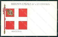 Militari 11º 12º Reggimento Fanteria Brigata Casale cartolina XF0035