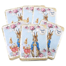NEW Peter Rabbit Thank You Vintage Blank Note Cards Baby Shower  6 -Envelopes