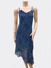 Robe DERHY T 38 M 2 Bleu Asymétrique Doublé Bretelles Tuniq Fête Tunic Dress été
