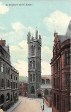 POSTCARD   BRISTOL  St  Stephen's  Tower