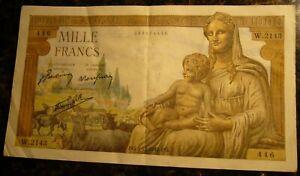 1942 France - 1000 Francs - 3.12.1942 - Banknote