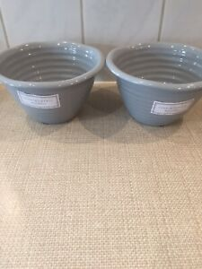 Sophie Conran  Portmeirion Pair Of Pudding Basin Brand New :grey In Colour: