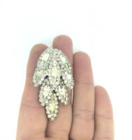 Vintage 1950s Brooch Pin Costume Glass Paste Stones Adorable