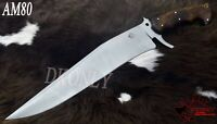 Custom Handmade D2 Steel Hunting Full Tang Bowie Knife Rose Wood Handle (DKONLY)