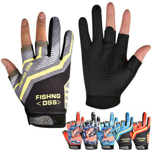 Fingerless Fishing Gloves Breathable Quick Drying Anti-slip Protective Mittens