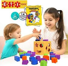 Eti Toys, 19 Piece Unique Educational Sorting & Matching Toy for Toddlers. Color