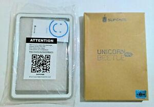 Kindle Fire HD 7 SUPCASE Unicorn Beetle Full-Body Hybrid Case, White/Gray