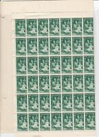 NEW ZEALAND HEALTH STAMPS , COMPLETE SHEET OF 120 STAMPS, UNMOUNTED MINT