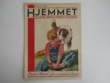 Beautiful old magazine cover: Boy with a sore foot - the dog comforted