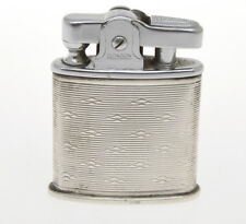 Ronson vintage petrol lighter with solid silver jacket, Exc++++
