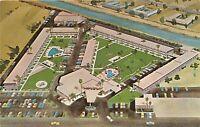 Scottsdale Arizona 1960s Postcard Safari Hotel Artist Rendering Aerial View