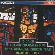 J.S.BACH Organ Chorales For The Liturgical Church Year CD  Helmuth Rilling 1974