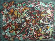SUPERBE COMPOSITION ABSTRAITE-JACQUES CHEVALIER-ABSTRACTION-GOUACHE-Vers 1960-70