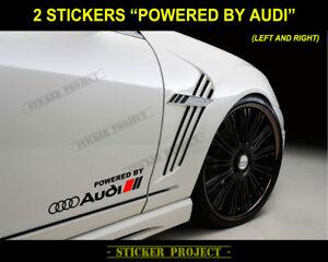 ADESIVI POWERED BY AUDI sticker A1 A3 A4 A5 A6 Q3 Q5 Q7 TT S line DECAL