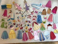 Melissa & Doug Magnetic Dress Doll 2 Disney Belle Cinderella Lot 86 Pc EXC