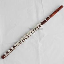 Concert Professional Rose Wooden Flute 18 Holes Bb foot Split E key New Case