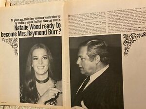 Natalie Wood, Raymond Burr, Four Page Vintage Clipping
