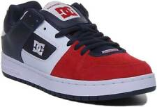 Dc Shoes Manteca Men Iconic DC Suede Trainers In White Navy Red Size UK 6 - 12