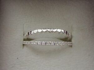 HEART RING WITH CZ  STERLING SILVER  RING CHOOSE FROM 3 SIZES FREE GIFT BOX