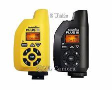 NEW!!!  2 - PocketWizard Plus III Transceiver Pocket Wizard  (Black + Yellow)