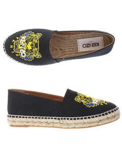 Scarpe Espadrillas Kenzo Moccasin Shoes Donna Nero F862ES180F70 99 Tg. 36