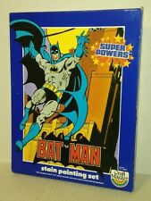 vtg 1984 BATMAN Super Powers Stain Painting Set FACTORY SEALED Craft Masters NEW