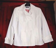 White Double Breasted Jacket Size 14