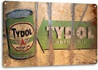 Tydol Motor Oil Tin Metal Sign Gas Auto Shop Garage Retro Oil Gas Metal Sign