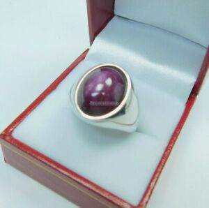 Natural Star Ruby Gemstone with 925 Sterling Silver Ring for Men's EG1609