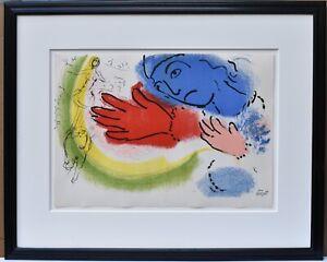 Marc Chagall Original Color Lithograph Plate Signed !956 Derrirer Le Miroir