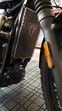 Radiator guard BLACK Triumph Scrambler 2017> TRI-001 BLK TRI LOGO