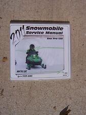 2011 Arctic Cat Sno Pro 120 Snowmobile Service Manual CD Compact Disc Machine T