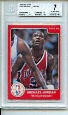 1984-85 Star #195 Michael Jordan Rookie Card BGS 7 Near Mint 1984 Olympics