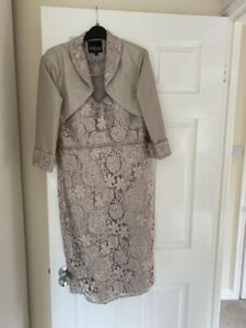 Complete Mother Of The Bride Outfit Including Shoes, Fascinator And Bag