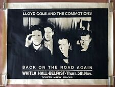 LLOYD COLE AND THE COMMOTIONS Whitla Hall BELFAST 1987 CONCERT POSTER VG+