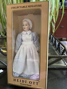Miniature 1:12 Heidi Ott Doll W Box
