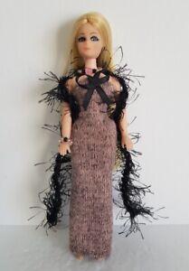 DAWN DOLL CLOTHES - Black BOA Pink DRESS & JEWELRY HM Fashion NO DOLL dolls4emma