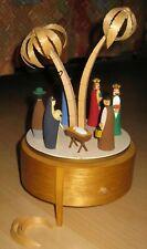 Alte Erzgebirge Spieluhr VEB Harmonie Nr.301, Christi Geburt Stille Nacht 26cm