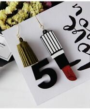 Stylish Lipstick Tassel 5 Ear Drop - Black