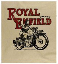 Royal Enfield Retro Print Biker Motorcycle Vintage Motorbike Sand T-Shirt