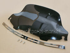 "Slotted Stock Batwing Trim + 8"" Black Windscreen Harley Touring For 1996-2013"